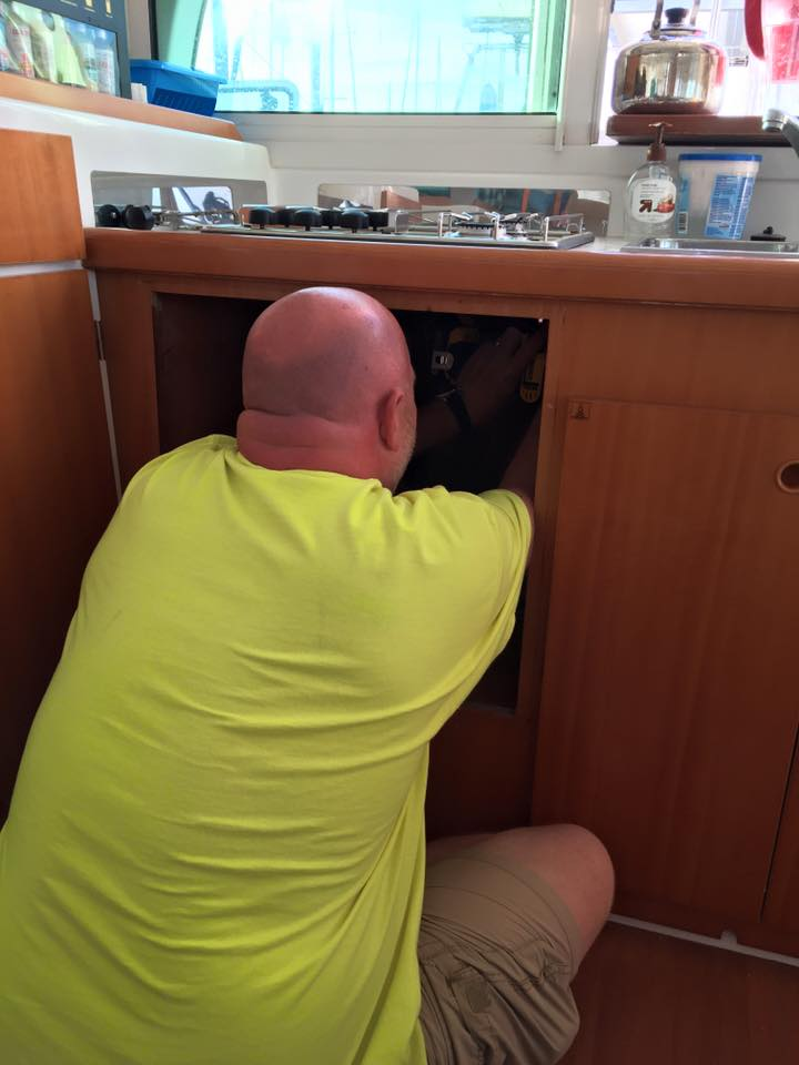 Installing new oven