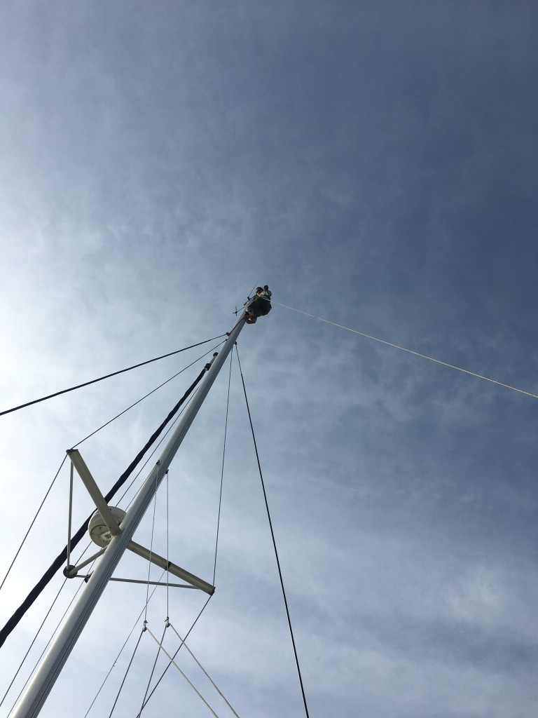 Michelle on the mast!