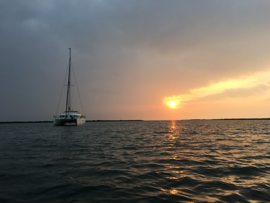 Nothing like a peaceful anchorage at sunset.